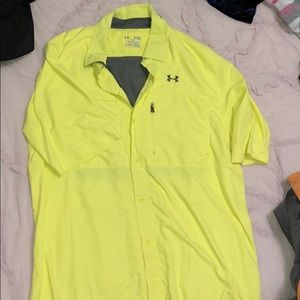 Yellow men's under armour shirt!